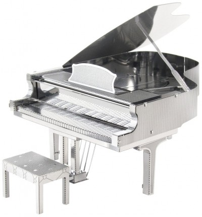 Grand Piano: Metal Earth 3D Laser Cut Instrument Miniature Model Kit 2 sheets