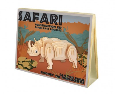 Rodney the Rhinoceros: Safari Construction Kit with Fun Fact Booklet Age 8 Plus