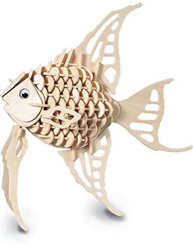 Angel Fish - QUAY Woodcraft Construction Kit Wooden 3D Model Kit H010 Age 7 and up