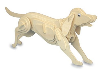 Dog - QUAY Woodcraft Construction Kit Wooden 3D Model Kit M011 Age 7 and up
