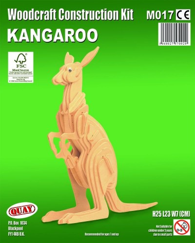 Kangaroo: Woodcraft Quay Construction Wooden 3D Model Kit M017 Age 7 plus