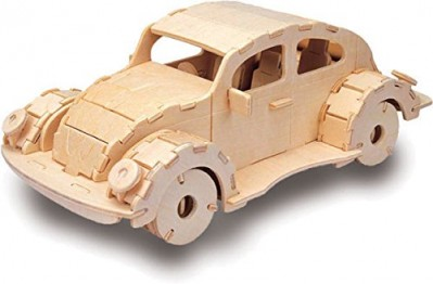 VW Beetle - QUAY Woodcraft Construction Kit Wooden 3D Model Kit P305 Age 7 and up