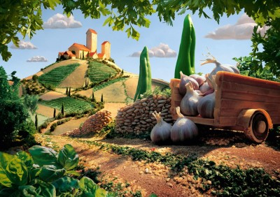Landscape in Tuscany: Schmidt Carl Warner Foodscapes Jigsaw Puzzle 1000 pieces 59373