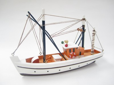 Dipper Starter Boat Kit: Build Your Own Lobster Boat Wooden Model Ship
