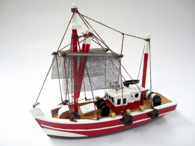 Fishing Magician Starter Boat Kit: Build Your Own Fishing Boat Wooden Model Ship