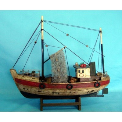 Windmill Fishing Starter Boat Kit: Build Your Own Wooden Model Ship Fishing Boat