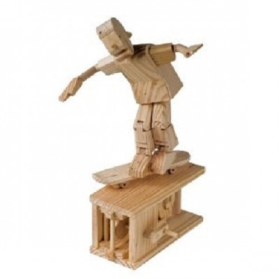 The Skateboarder - Timberkits Self-Assembly Wooden Construction Moving Model Kit
