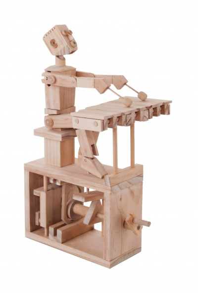 Xylophone Player- Timberkits Self-Assembly Wooden Construction Moving Model Kit