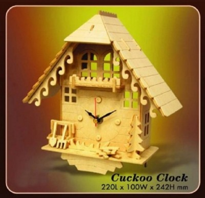 Cuckoo Clock: Wood Craft Assembly Wooden Construction Clock Kit
