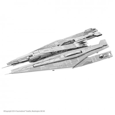 Alliance Cruiser Mass Effect: Metal Earth 3D Laser Cut  Miniature Model Kit 1 sheet