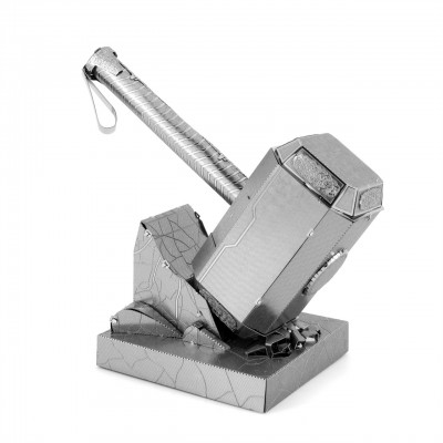 Thor's Hammer Mjolnir: Metal Earth 3D Laser Cut Miniature Marvel Avengers Model Kit