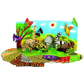 4M Make Your Own Safari Animals Origami with pop up play scene, ages 5 plus2