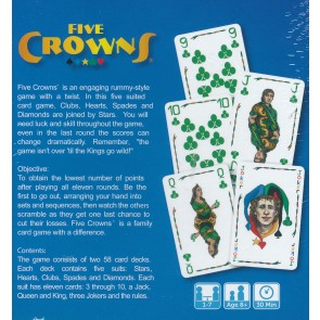 Five Crowns - A Family Card Game from Esdevium Games 1-7 players Age 8plus 2