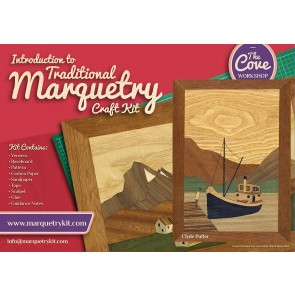 Clyde Puffer: Traditional beginner Marquetry Craft Kit by Cove Workshop2