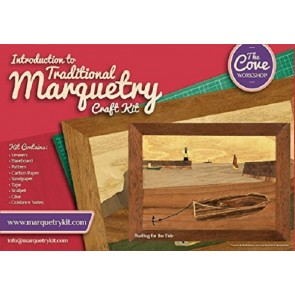 Waiting for the Tide: Traditional beginner Marquetry Craft Kit by Cove Workshop2