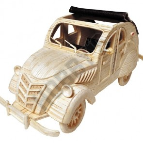 Old Car: Matchmaker Matchstick Model Craft Construction Kit Car Kit