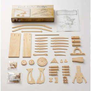 Leonardo Da Vinci Ornithopter: Pathfinders Wood Construction Model Kit Age 9+2