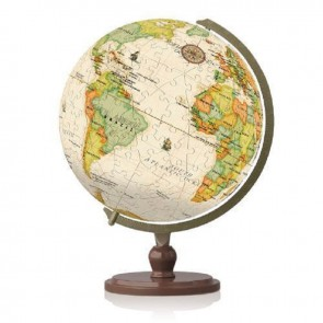 Yellow Marble Earth Globe: 3D Pintoo Jigsaw Puzzle Sphere. 240 pieces Age 6+