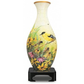 Goldfinches: 3D Jigsaw Puzzle Vase Pintoo 160 pieces S1003 Age 6+
