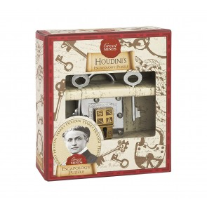 Houdini's Escapology Puzzle: Professor Puzzle Great Minds Metal Padlock Puzzle2