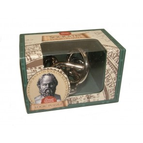 Socrates' Logic Puzzle: Professor Puzzle Great Minds Mini Metal Puzzle
