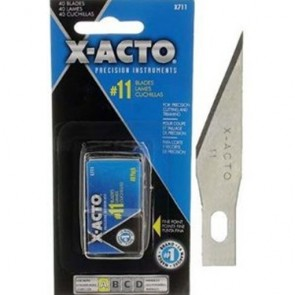 X-Acto X711 No.11 Blades for Xacto Knife x 40: Precision light cutting trimming.